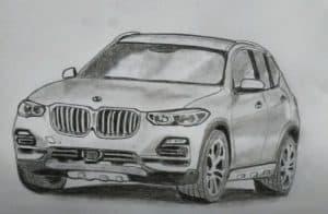 How to Draw a BMW X5 Step by Step