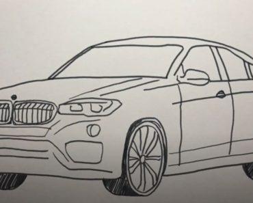 How to Draw a BMW X6 Step by Step