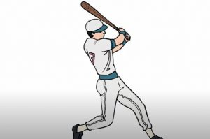How to Draw a Baseball Player Step by Step