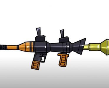 How to Draw a Bazooka Step by Step - Gun Drawing Easy