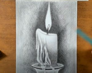 How to Draw a Candle Step by Step
