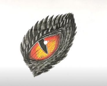 How to Draw a Dragon Eye Step by Step