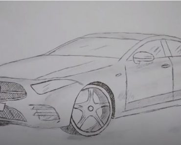 How to Draw a Mercedes-Benz CLS Step by Step