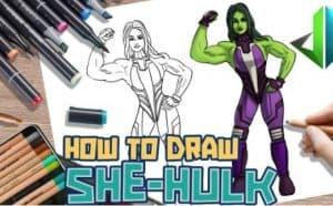 How to draw She Hulk Step by Step