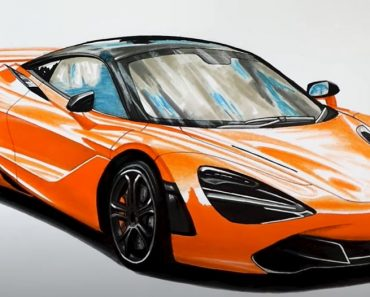 How to draw a Mclaren 720s Step by Step