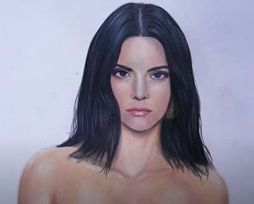 Kendall Jenner Drawing - How to draw Kendall Jenner with Pencil