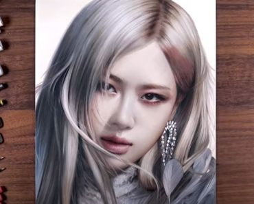 Rosé (Roseanne Park) from K-pop group BLACKPINK Drawing