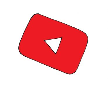 how to draw youtube logo step by step