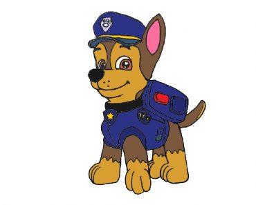 chase paw patrol drawing