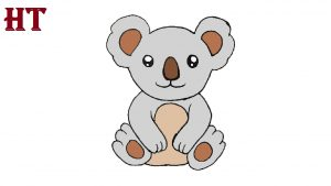 koala drawing easy for beginners