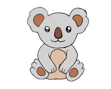 koala drawing easy for beginners