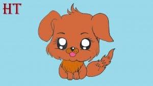 Chibi Dog Drawing Easy