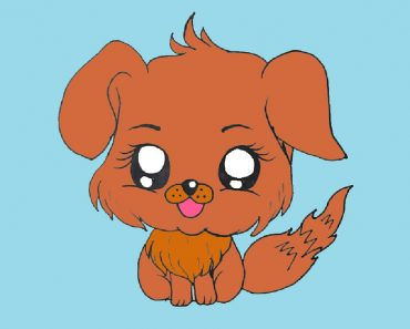 Chibi Dog Drawing Easy