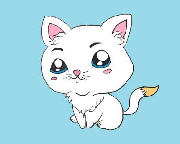 Chibi cat drawing easy