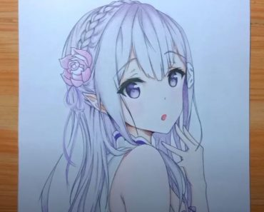 Cute anime girl drawing easy with Pencil - How to draw anime girl face
