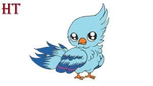 Cute bird drawing easy for kids