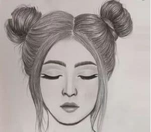 Cute girl face drawing Step by Step - How to draw a Girl Easy