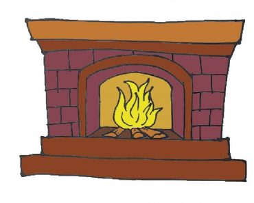 Fireplace Drawing Step by Step for Beeginners