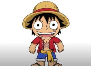 How to Draw Chibi Monkey D Luffy Step by Step