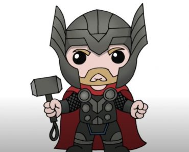 How to Draw Chibi Thor Step by Step