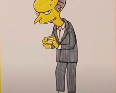 How to Draw Mr. Burns Step by Step