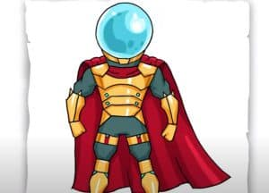 How to Draw Mysterio Step by Step
