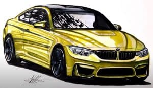 How to Draw a BMW M4 Step by Step