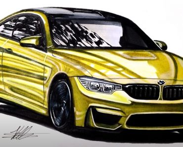 How to Draw a BMW M4 Step by Step