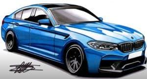 How to Draw a BMW M5 Step by Step
