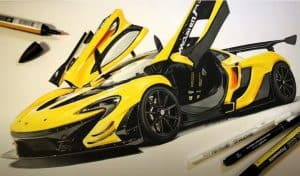 How to Draw a McLaren P1 GTR Step by Step