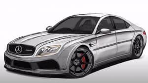 How to Draw a Mercedes-Benz E-Class Step by Step