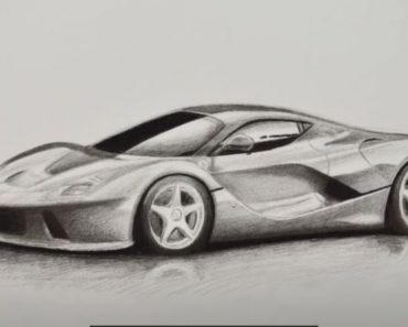 How to Draw a Race Car with pencil