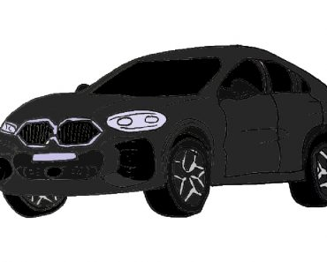 How to draw BMW X6