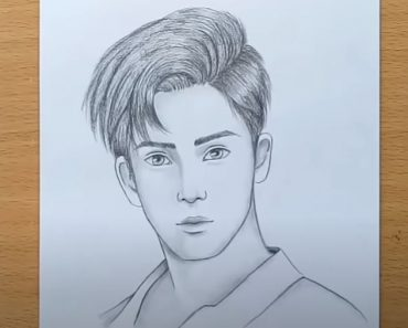How to draw a Boy face Step by Step