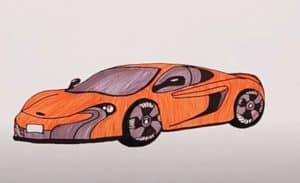 How to draw a Mclaren Sports Car with Pencil Step by Step