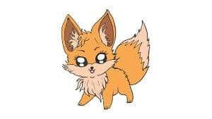 How to draw a cute fox
