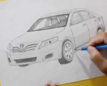 How to draw a toyota car Step by Step