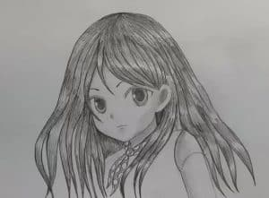 Manga Girl Drawing Step by Step - Anime Girl Sketch with Pencil
