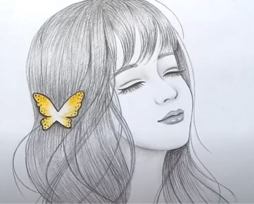 Pencil Sketch of Girl face - How to draw a beautiful Girl Step by Step