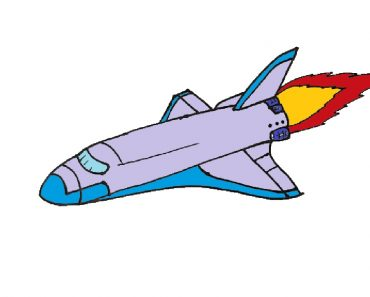 Space Shuttle drawing easy