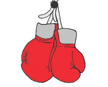 hanging boxing gloves drawing step by step