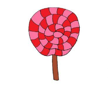 lollipop drawing easy