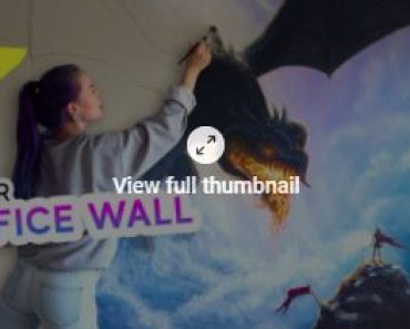 superb painting on the wall by Girl - She Painted A GIANT Fantasy Mural