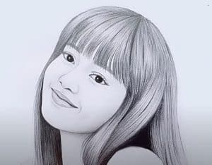 Blackpink Lisa Drawing with Pencil