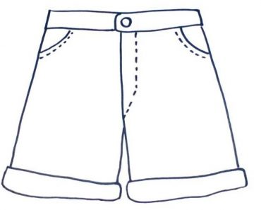 How to Draw Shorts Step by Step
