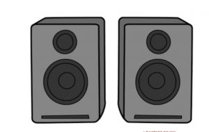 How to Draw Speakers Step by Step