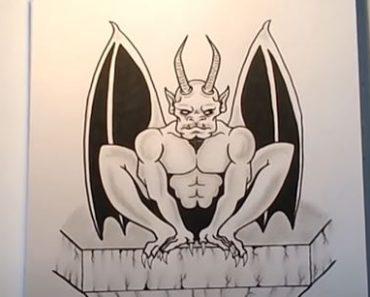 How to Draw a Gargoyle Step by Step
