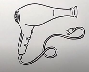 How to Draw a Hair Dryer Step by Step