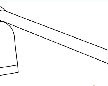 How to Draw a Hoe Step by Step