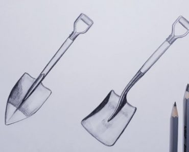 How to Draw a Shovel with Pencil